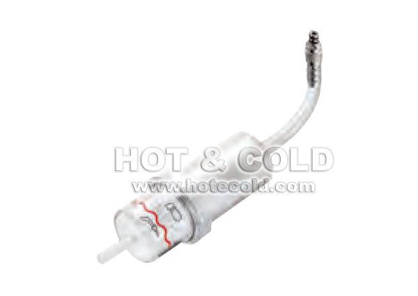 Gruppo anticondensa e filtraggio fumi con tubo e raccordo in acciaio